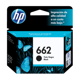 Cartucho de Tinta HP 662 Negra Original