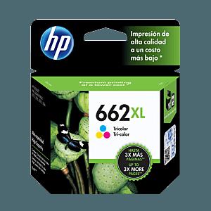 Cartucho de Tinta HP 662XL Tricolor Original