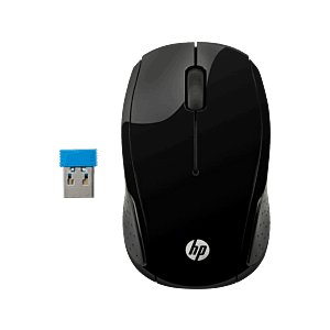 Mouse Inalámbrico HP 200 Negro