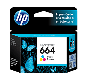 Cartucho de Tinta HP 664 Tricolor Original