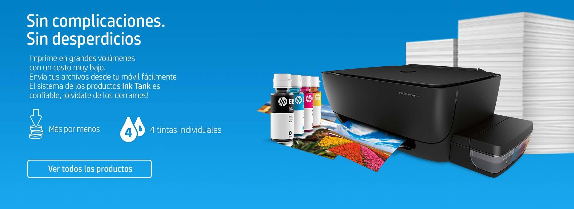 HP Ink Tank | Sin complicaciones, sin desperdicios