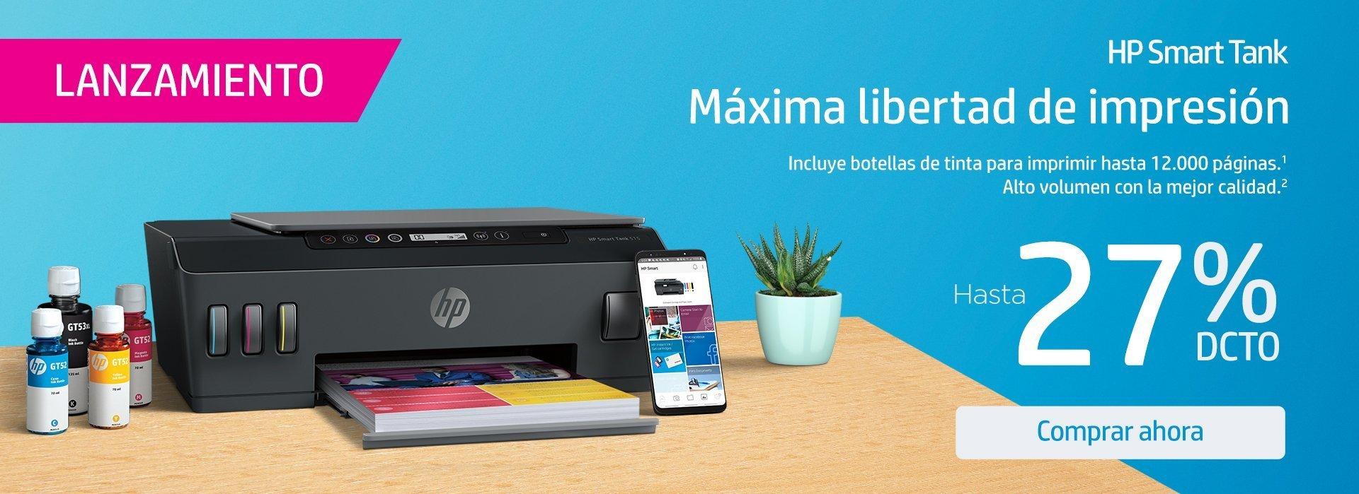 HP Smart Tank | Máxima libertad de impresión con hasta 27% dto