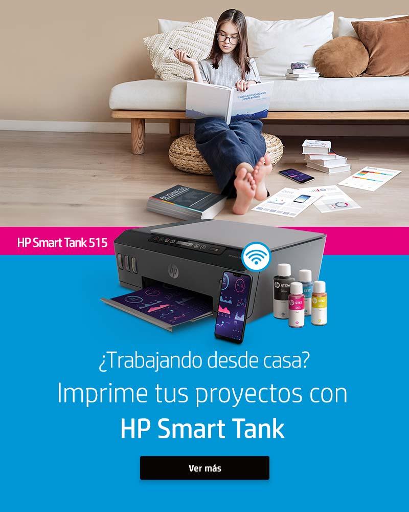 ¿Trabajando desde casa? Imprime tus proyectos con HP Smart Tank