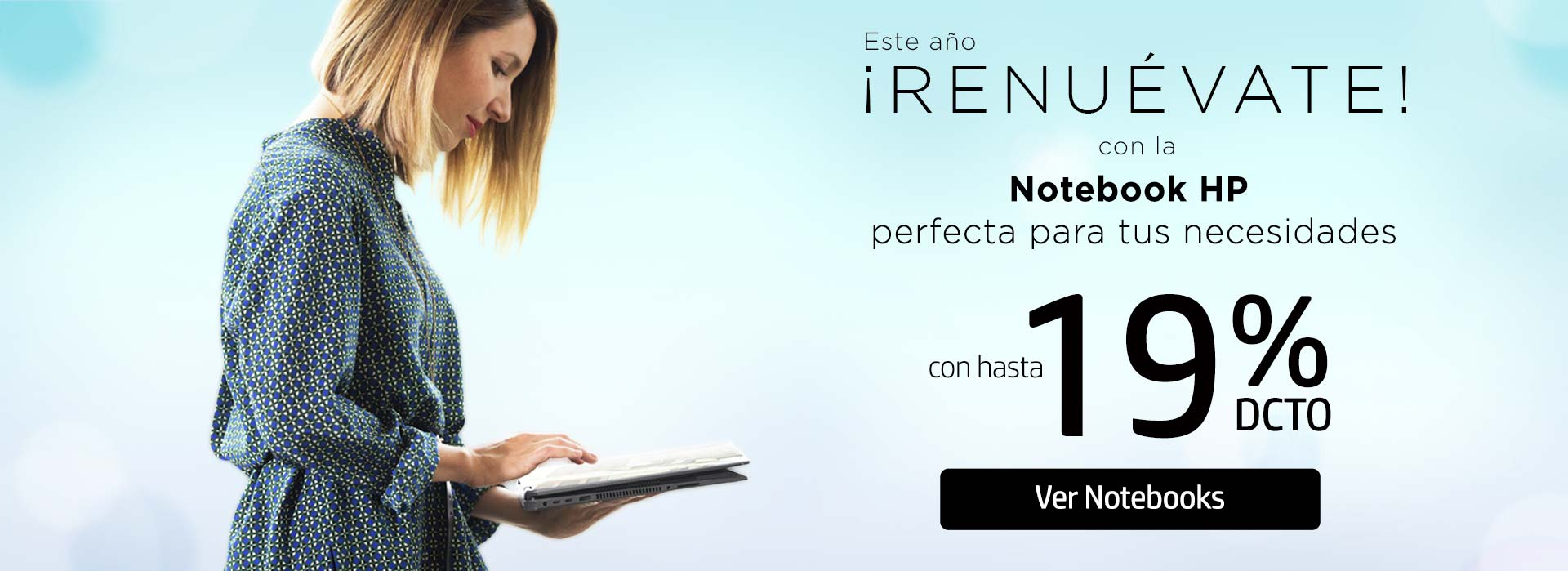 Este año renuévate con la Notebook HP perfecta para tus necesidades hasta 19% dto