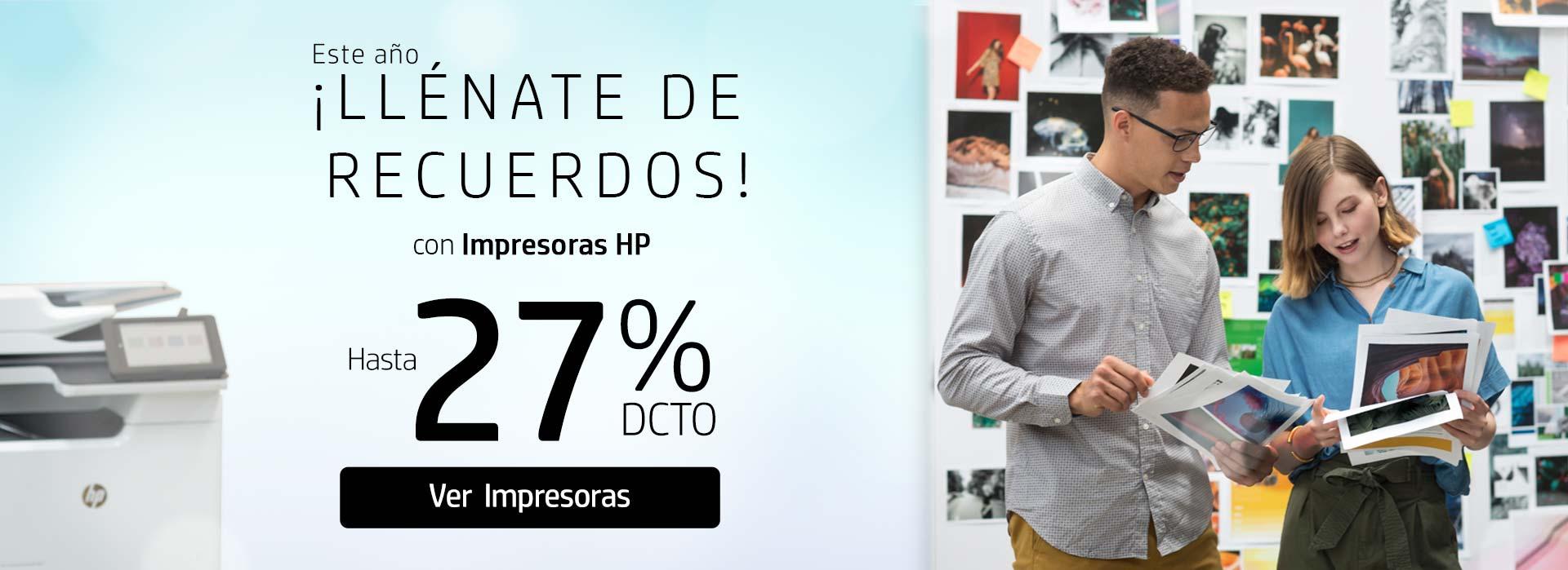Este año llénate de recuerdos con Impresoras HP con hasta 27% dto