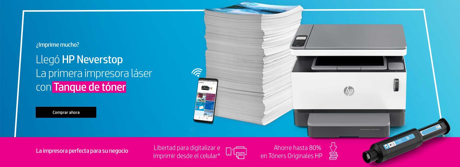 ¿Imprimes mucho? Llegó HP Neverstop la primera impresora láser con Tanque de Tóner